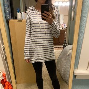 Size Small Striped Hoodie